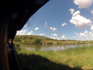 Veiw from one of the many hides found in the Pilanesberg. A spot popular with animals in the hot summer months