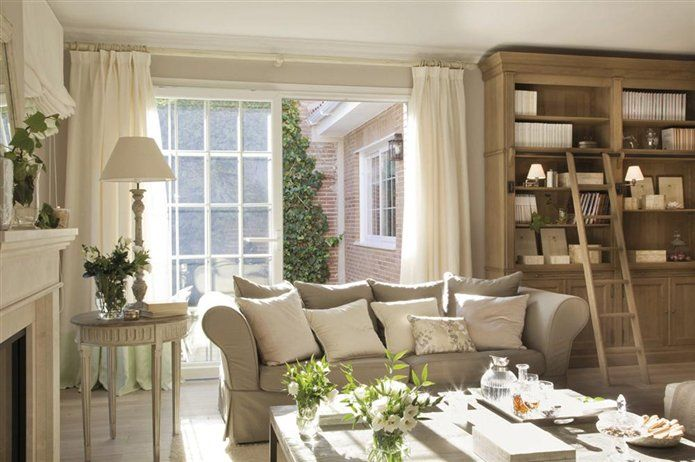 Soothing interior, cream, oatmeal and linen...