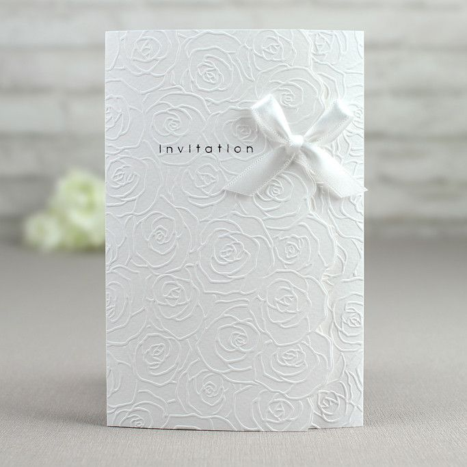 30 best Embossed Wedding Invitations images on Pinterest Cheap