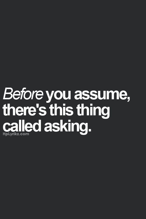 Always ask first :)