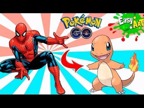 Cómo Dibujar Charmander al estilo Hombre araña │Pokemon style spiderman  Videos  - YouTube
