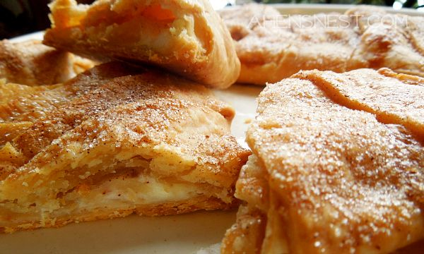 Cream Cheese Apple Braid - uses 2 pie crusts, 6oz. cream cheese, 1 or 2 apples, easy, easy, easy. I would think you could use whatever fruit you have on hand with this recipe.