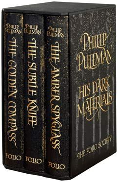 His Dark Materials trilogy by Phillip Pullman  Includes: The Golden Compass, The Subtle Knife, and The Amber Spyglass