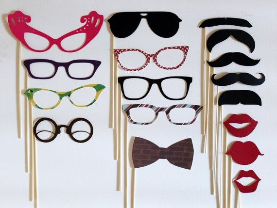 Mad Men Party on a Stick Kit - Seventeen Photobooth Party Props
