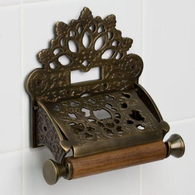dering solid brass toilet paper holder