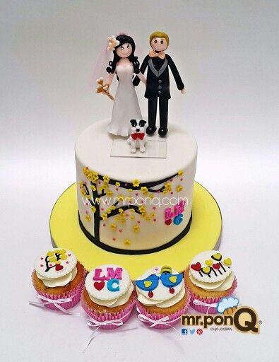 torta y cupcakes boda- cake and cupcakes wedding.mr.ponQ