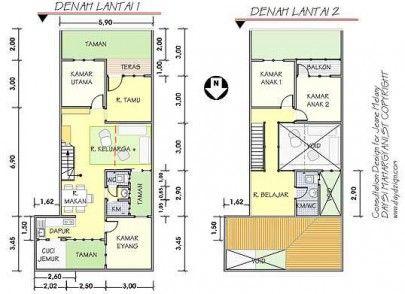 contoh desain denah rumah modern minimalis terbaru 2020