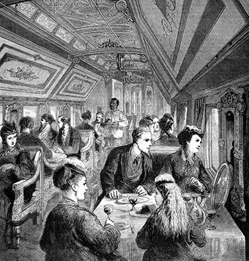 Traveling Etiquette And Tips For Victorian Women Dining In A Railway Car 1870