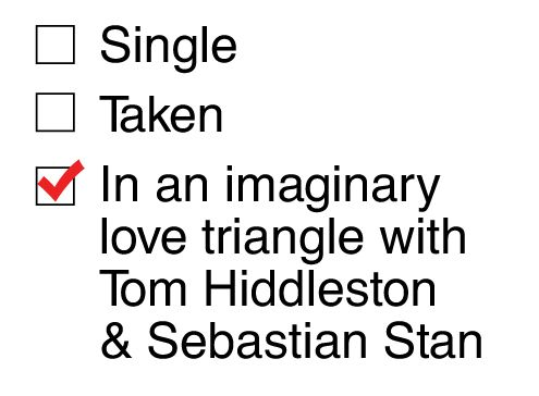 Sebastian Stan (Bucky) Tom Hiddleston (Loki) There are no words to describe how true this is for me right now