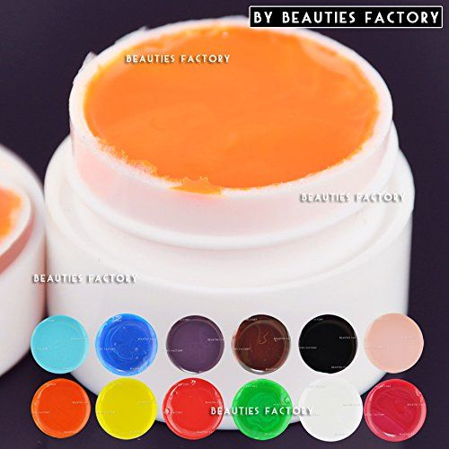 Beauties Factory Quality Colour UV Gel Nail Art Polish Glitter / Solid / Pure / Transparent (12 x Pure Solid (975B)) -- You can get additional details at the image link.