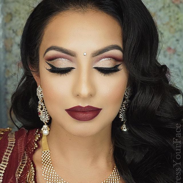 Can't wait to meet all my new DYFL members online tonight for our first LIVE class together! Excited for this topic (highly requested!) ✨GLITTERY LINE CUT CREASE WITH BURGUNDY LIPS✨ happening live tonight at 6pm PST only on #DressYourFaceLIVE.com (link in bio if you wanna join!)  I will be teaching step by step  this elegant wine-toned cut crease featuring a fine line of gold glitter, paired with the perfect burgundy lip and sharing all my tips and secrets on keeping everything clean an...