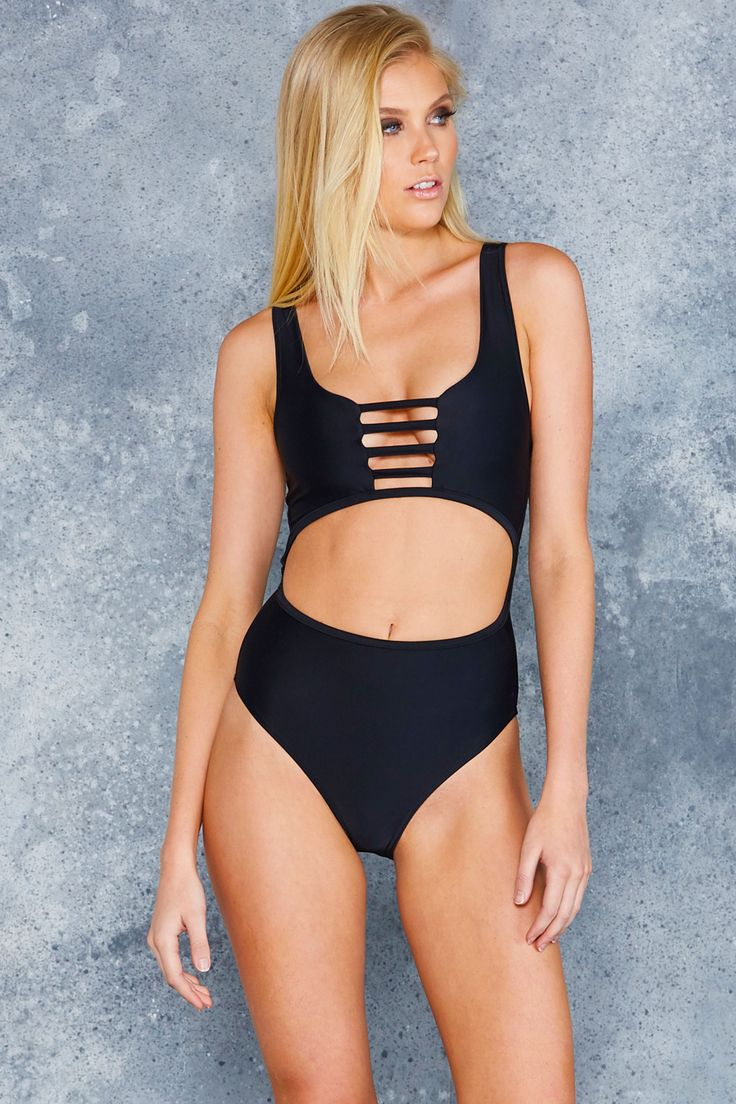 Cut It Out Swimsuit - LIMITED ($110AUD) by BlackMilk Clothing