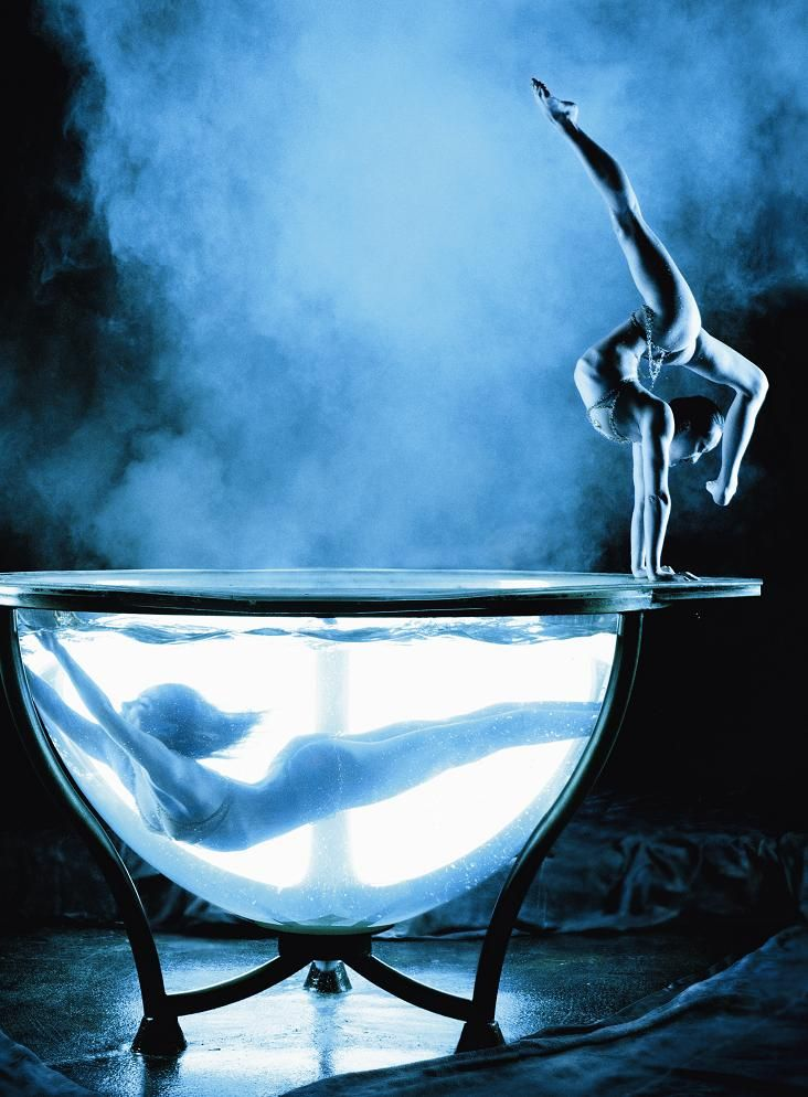 "Cirque Du Soleil's name (French for ""circus of the sun""), has come to be known as one of the most extravagant circuses in history. They perform incredible feats at their shows, including this waterbowl performance. Have you seen their incredible shows? (Photo: Phillip Dixon)"