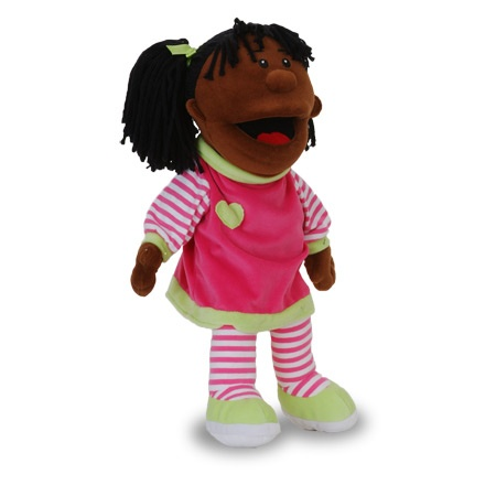 Black Girl moving mouth soft toy | Hand puppets, Girl ...
