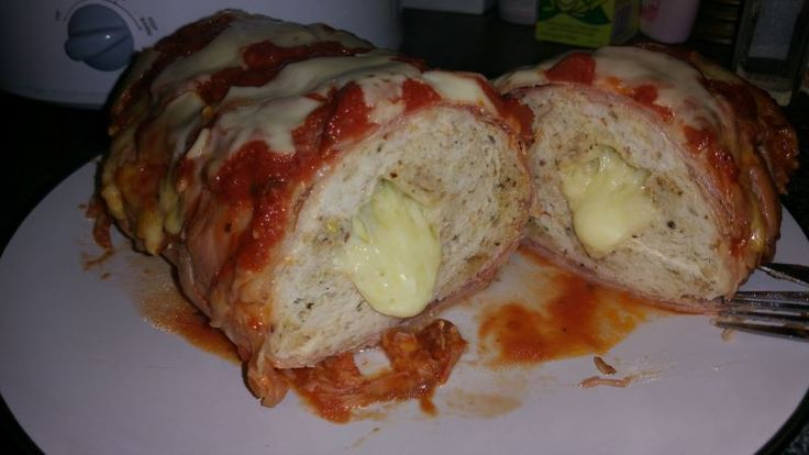 Bacon Wrapped Chicken Parmi Loaf |