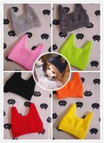 New Harajuku wind demon cat ears hat cap wool cap BJD 1/6 1/4 common bjd doll clothes