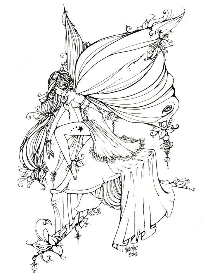 fairies and pixies coloring pages - photo#38