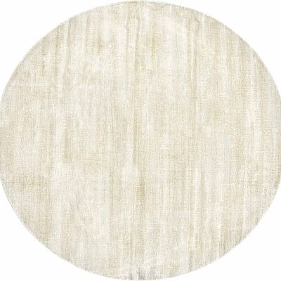 Round, unique and elegant 'Shiny Pearl' rug
