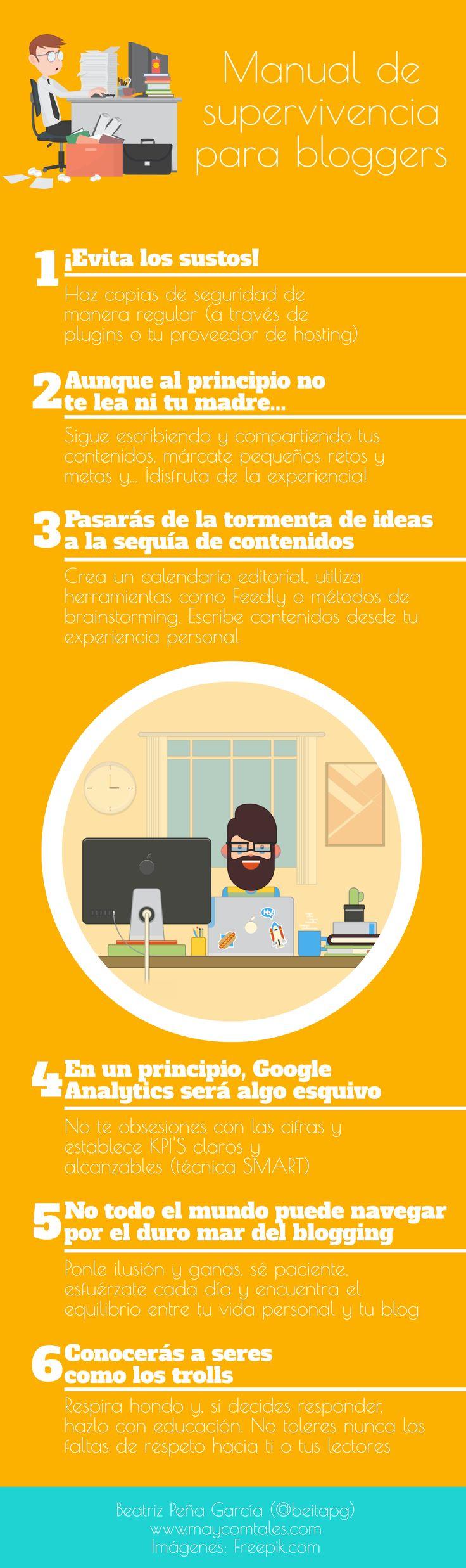 Manual de supervivencia para Bloggers #infografia