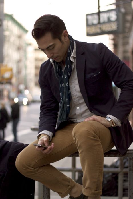Men Clothing, City Chic, Anchor Scarf, Men Style, Men Fashion, Men Clothes, Men'S Style, Men Wear, Men Street Styles