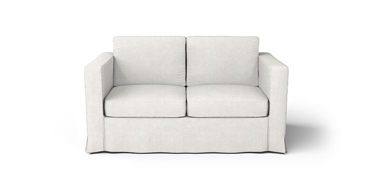 Boxed Seats Loose Fit Square Arm Loveseat Slipcover - Beautiful Custom Slipcovers | Comfort Works