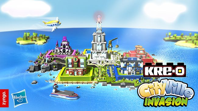 #Zynga and #Hasbro Kre-o #Cityville Invasion game and toys.