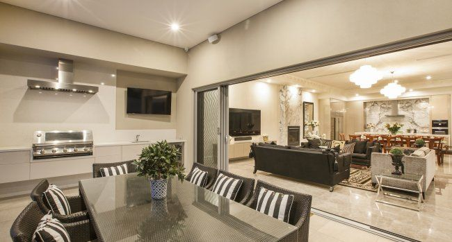 Entertain in style with this integrated indoor/outdoor space...