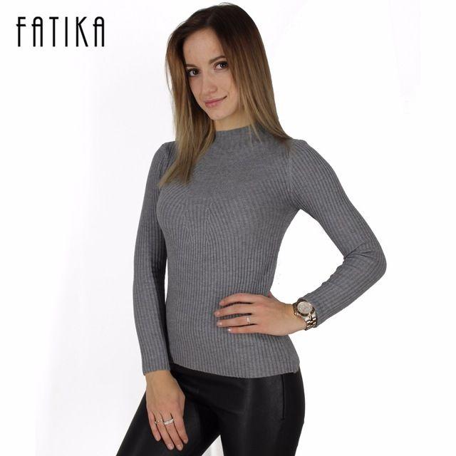 Новые моды для женщин водолазка вязаный свитер женский вязаный тонкий пуловер дамы все матч основной тонкая рубашка с длинным рукавом одежда