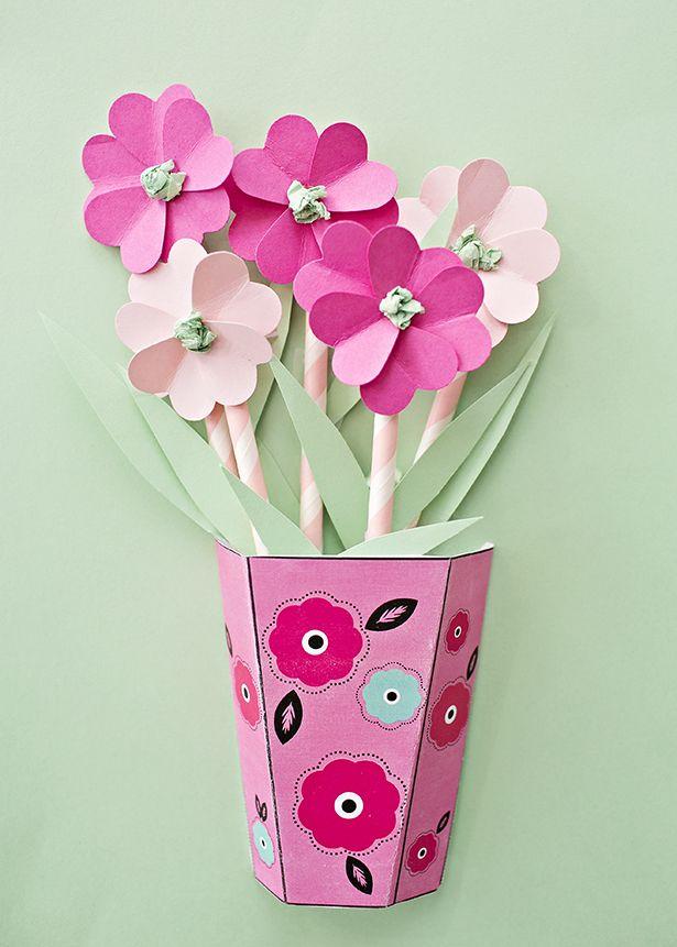 Картинки, открытка ваза с цветами из бумаги своими руками