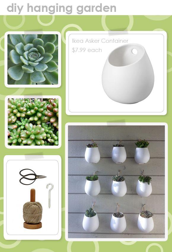Ikea Asker super great idea for an inexpensive wall garden