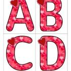 This is a set of large upper case letters with a Valentine's Day theme. 4 letters to a page. Print on cardstock.   Use to make matching and recogni...