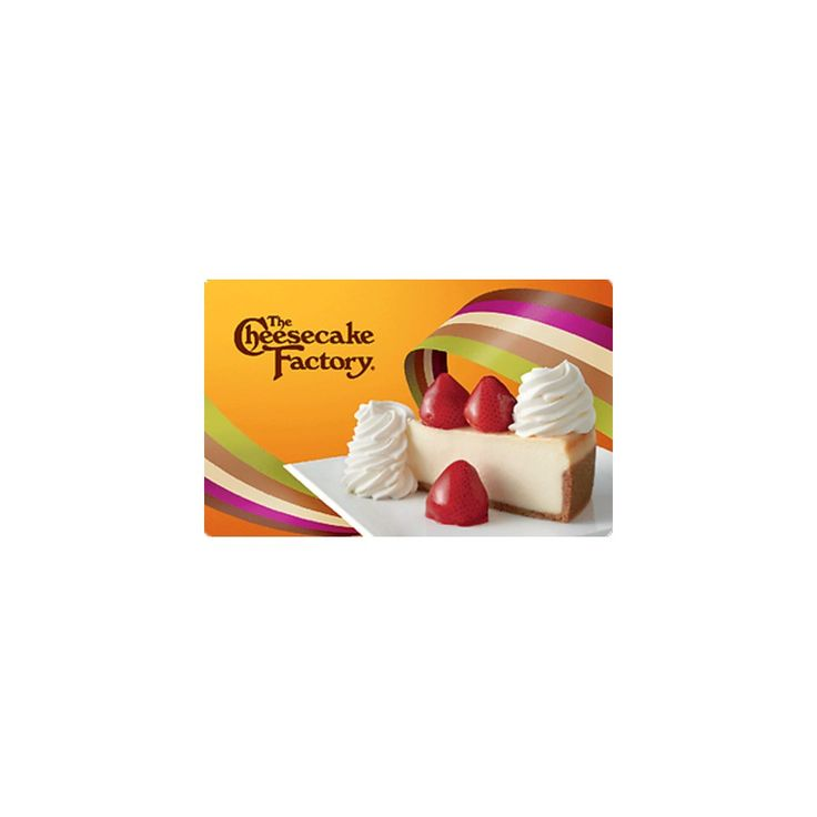 Cheesecake Factory $50 (Email Delivery)