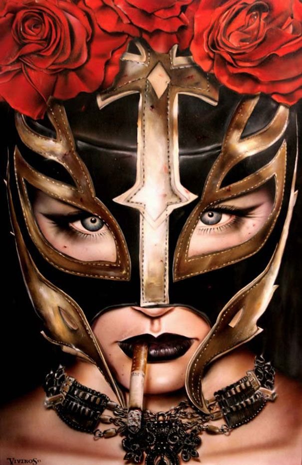 Behind the mask brian m viveros art pinterest for Tattoo donne guerriere