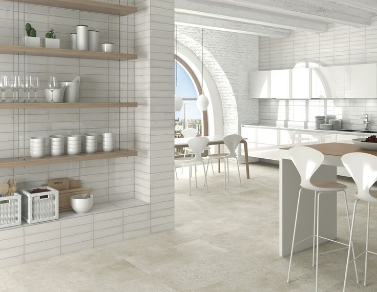 ARCANA Tiles | Tortona Bone 44,3x89,3 cm. / Ventura Blanco 33x100 cm. | Interior Design | Kitchen | Inspiration | architecture