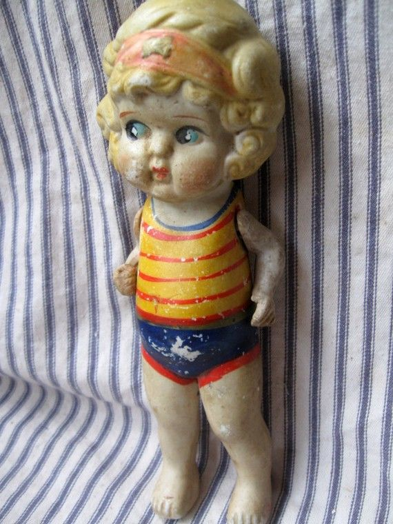 Adorable Vintage 1920's Japan Bisque doll by hopeandjoyhome