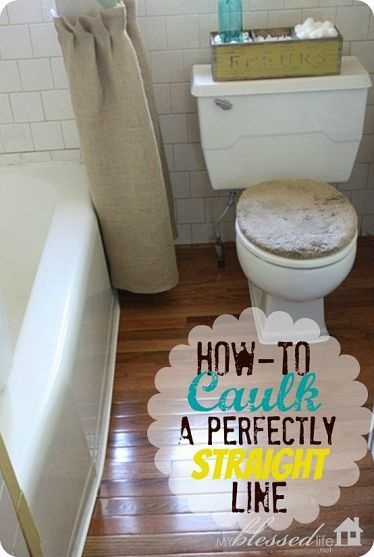How to caulk a perfectly straight line. This is so smart!