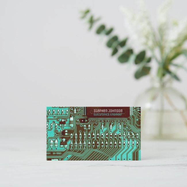 Teal Pcb Printed Circuit Technology Engineering Business Card Zazzle Com Business Cards Collection Engineering Technology