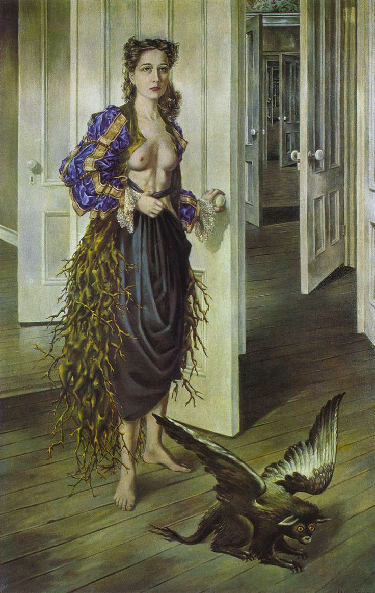 Leonora Carrington [The doors makes me want to step right into the painting!]