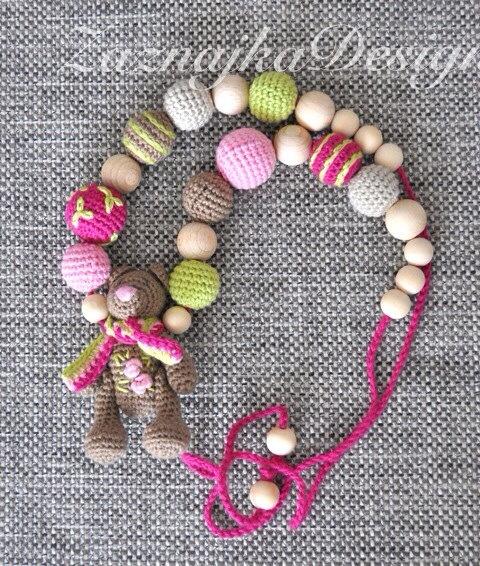 Crochet nursing - Necklace - Teething necklace -,teething toy - bear
