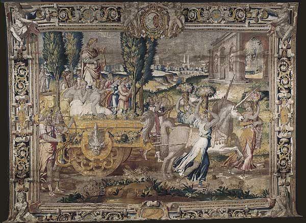 le char des licornes tapisserie paris collection du mobilier national ecole de fontainebleau. Black Bedroom Furniture Sets. Home Design Ideas