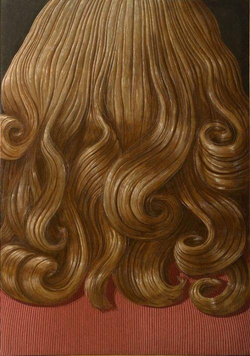 Domenico Gnoli, Curly Red Hair, 1969