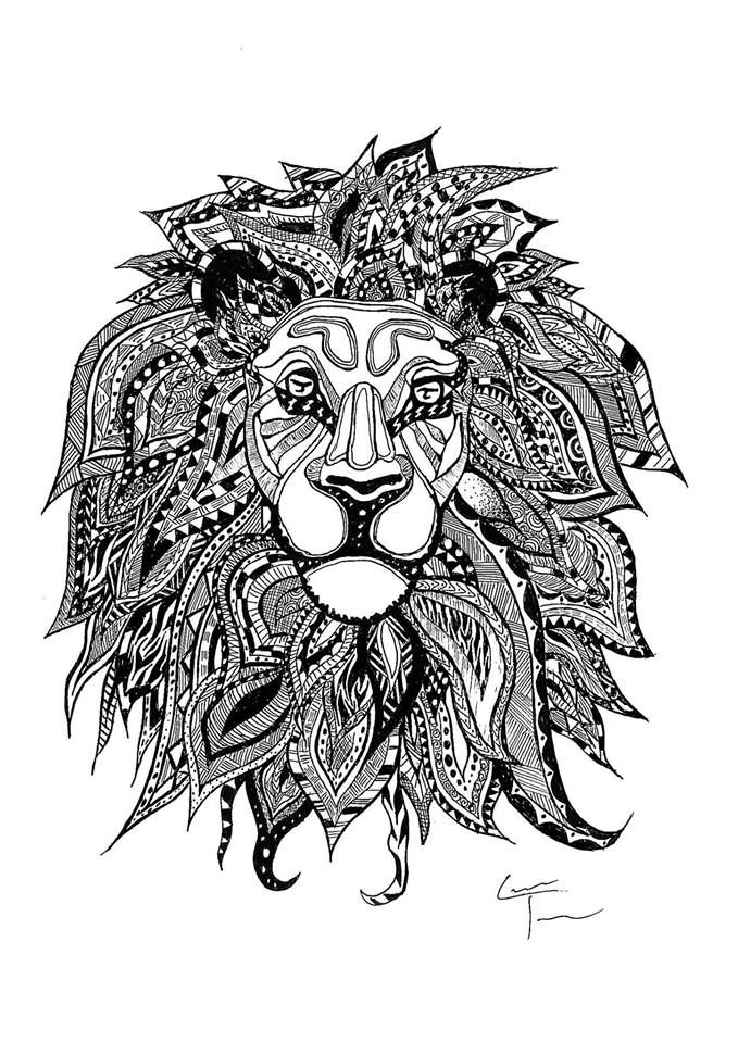 Game Of Thrones Zentangle And More Lion Coloring Pages Art