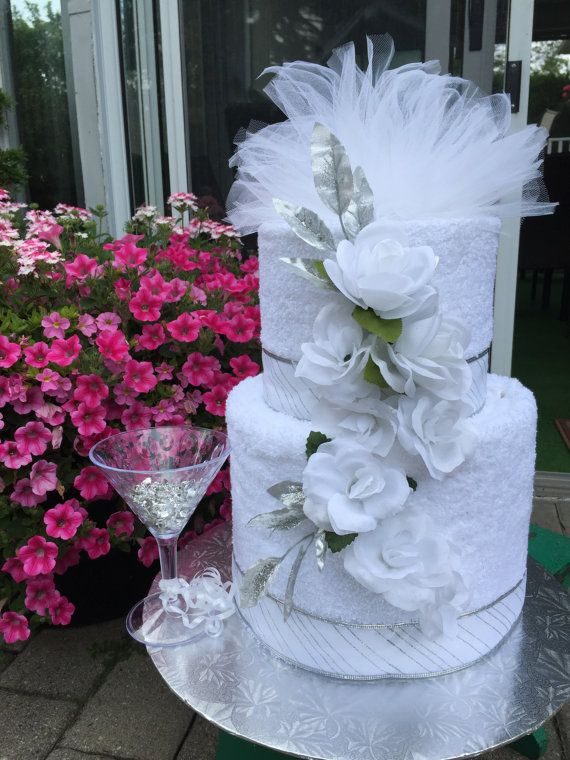 Towel Wedding Cake Perfect Shower Gift by LoveInRustic on Etsy