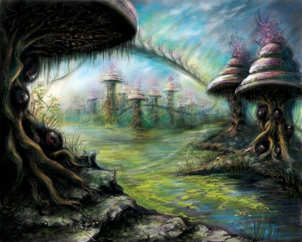 Alien Landscape colorized by RoseFaerie.deviantart.com on ...