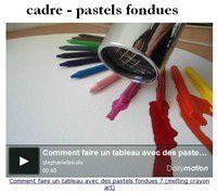 Comment faire un tableau avec des pastels fondues ? - Stéphanie bricole