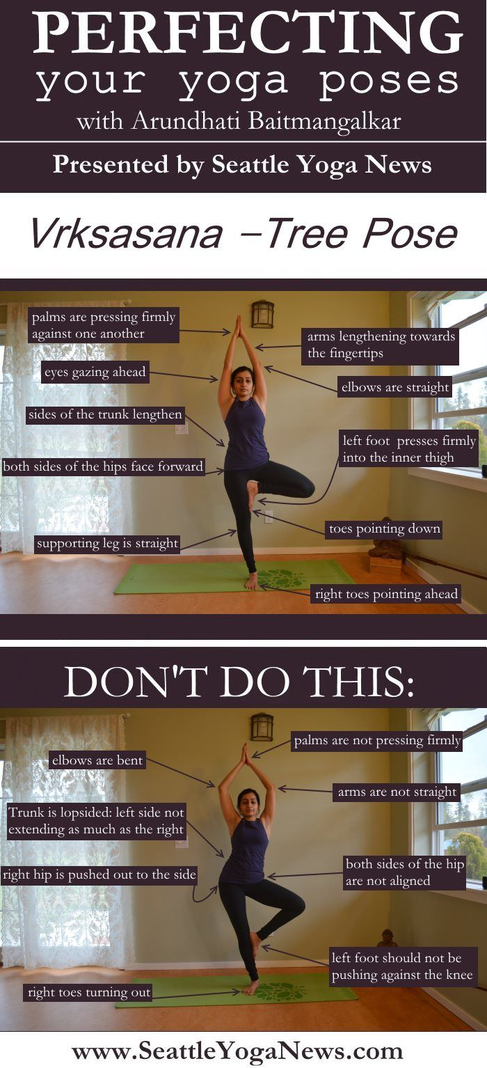 Are you looking to perfect your Tree pose (Vrksasana)? Follow this visual guide to ensure you are doing this yoga pose just right.