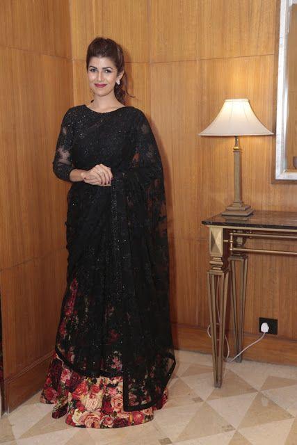 Nimrat Kaur Looking Stunning Black Lehenga Saree