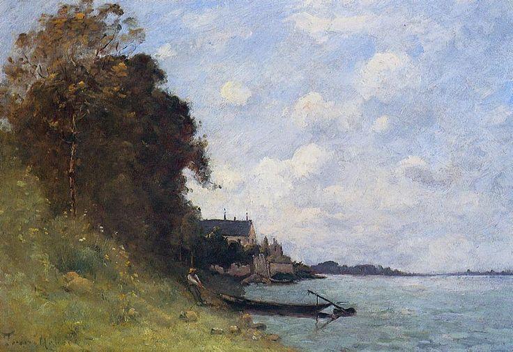 Le Canotier, huile sur toile de Paul Désiré Trouillebert (1829-1900, France)
