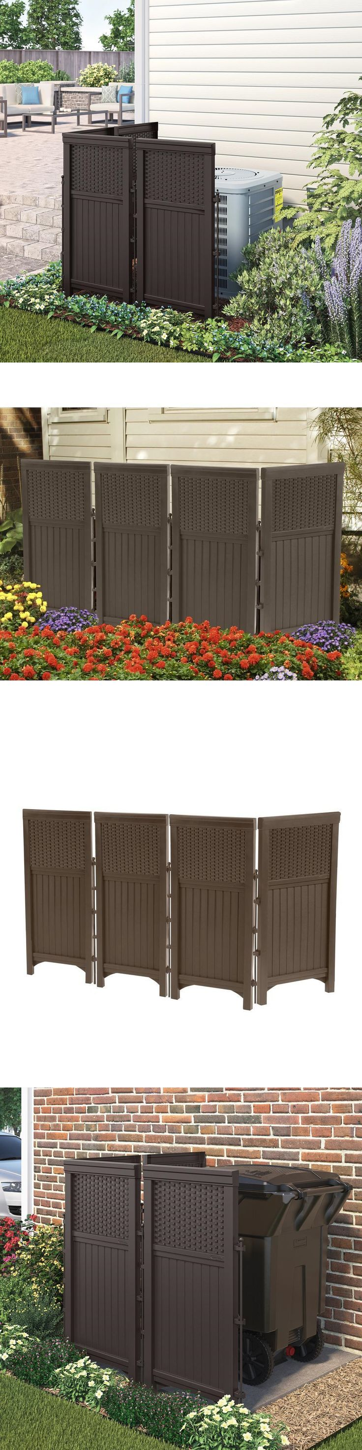 Fence Panels 139946: Wicker 44In Resin Decorative Screen Enclosure Patio  Hide Air Conditioner Ac Yard
