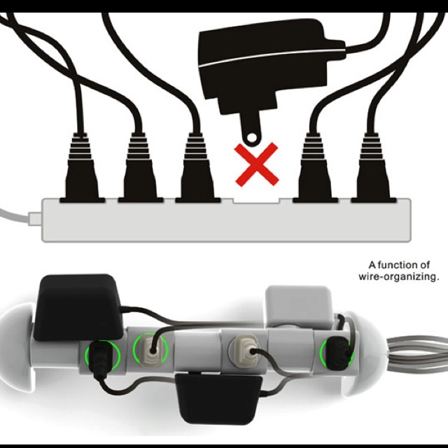Brilliant! The extension that fits it all! Even your huge blackberry dual ac adapter and plug.